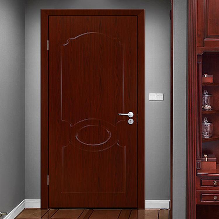 Modern Dark Wood Grain PVC Hinged Door