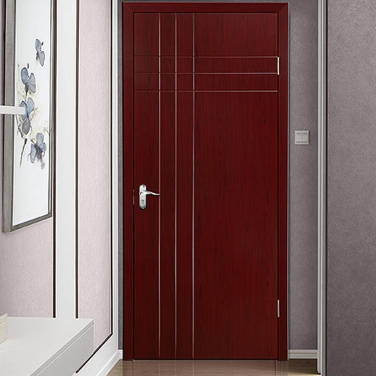 Brown Vertical Stripes PVC Interior Hinged Door