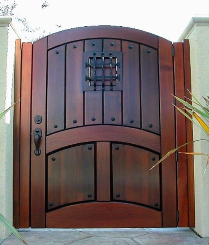 Rustic style solid knotty alder wood exterior front door
