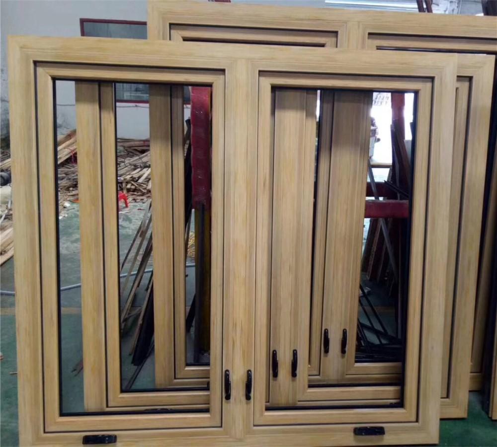 wood cladding aluminium crank casement windows