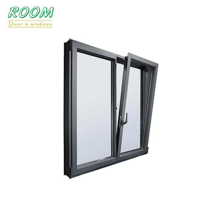 European style cheap tilt and turn aluminum window for sale