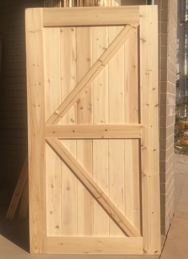 stained finished knotty  chinese ash wood interior door