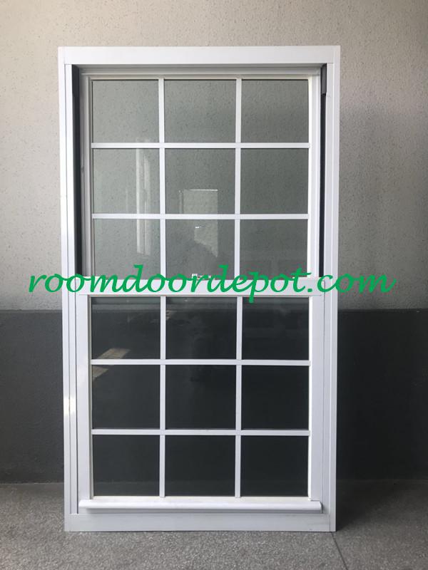 hot sale white color aluminium grill design vertical slide windows