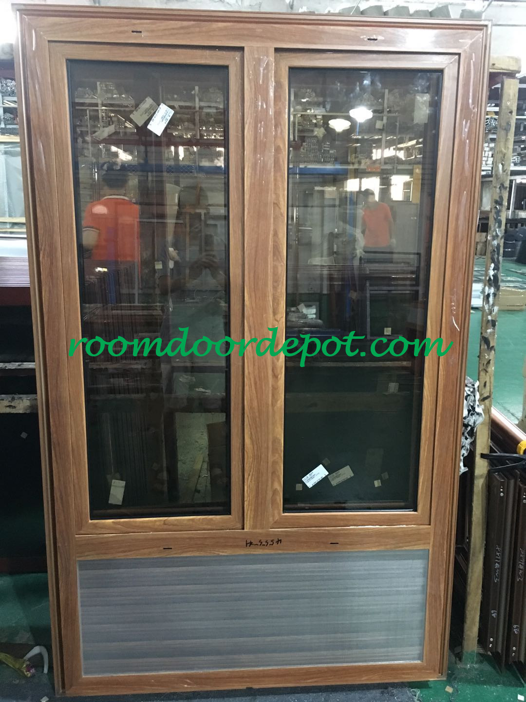 hot sale in east africa market 3 track slide windows with flat casing design
