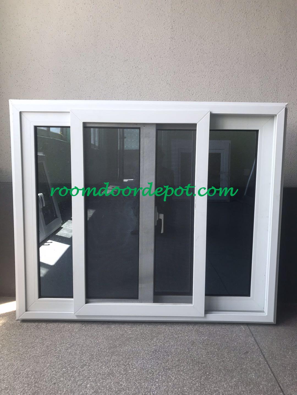 good quality upvc horizonal slide windows made in guangzhou factory