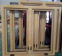 wood cladding aluminium crank casement windows