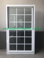hot sale white color aluminium grill design vertical slide windows