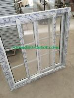 Hot sale upvc slide windows with grill design for south america market