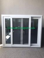 good quality upvc horizonal slide windows made in guangzhou factory